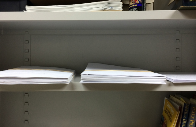 AHMM's dwindling hard-copy slush pile.
