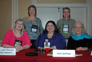 Kathy Lynn Emerson, Linda Landrigan, Barb Goffman, Art Taylor, Edith Maxwell